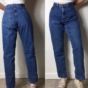 L.L. Bean high waisted jeans